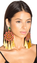Mercedes Salazar Sun Burst Tassel Earring