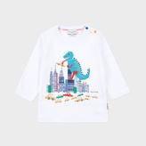 Paul Smith Baby Boys' White City Dinosaur Print 'Marny' Top