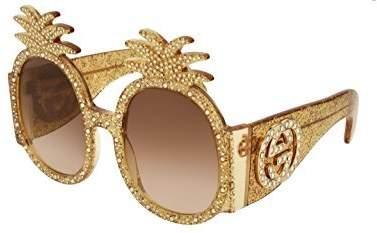 Gucci Sunglasses GG 0150 S- 001 GOLD/BROWN