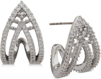 Jenny Packham Pave Curved Open Stud Earrings
