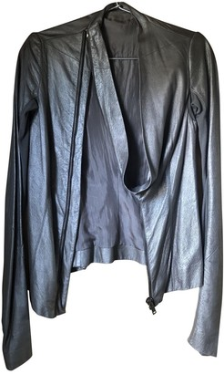 Rick Owens Metallic Leather Jackets