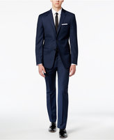 Calvin Klein Men's Extra-Slim-Fit Blue/Charcoal Birdseye Suit