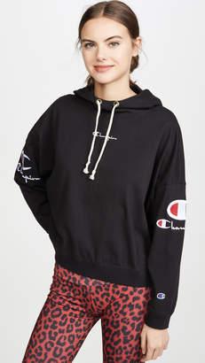 Champion Sleeve Logo Hooded Top