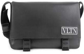 Valentino VLTN Leather Messenger Bag