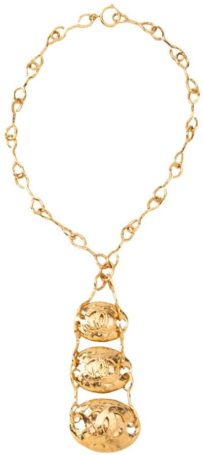 Chanel triple layered necklace