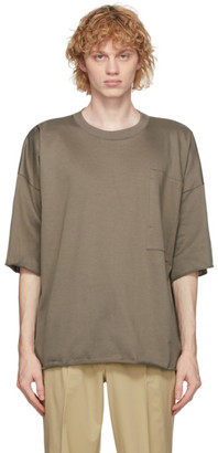 N.Hoolywood Khaki Oversized Pocket T-Shirt