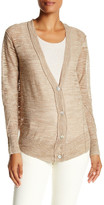 Brochu Walker Merill Linen Blend Slub Knit Cardigan