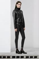 J Brand Emma Zip Skinny Leather in Black