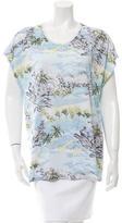 Saint Laurent Printed Short Sleeve T-Shirt