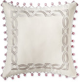 "Waterford Veranda Embroidered 16"" Square Decorative Pillow"