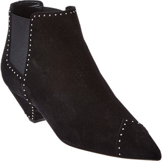 Saint Laurent Studded Suede Bootie