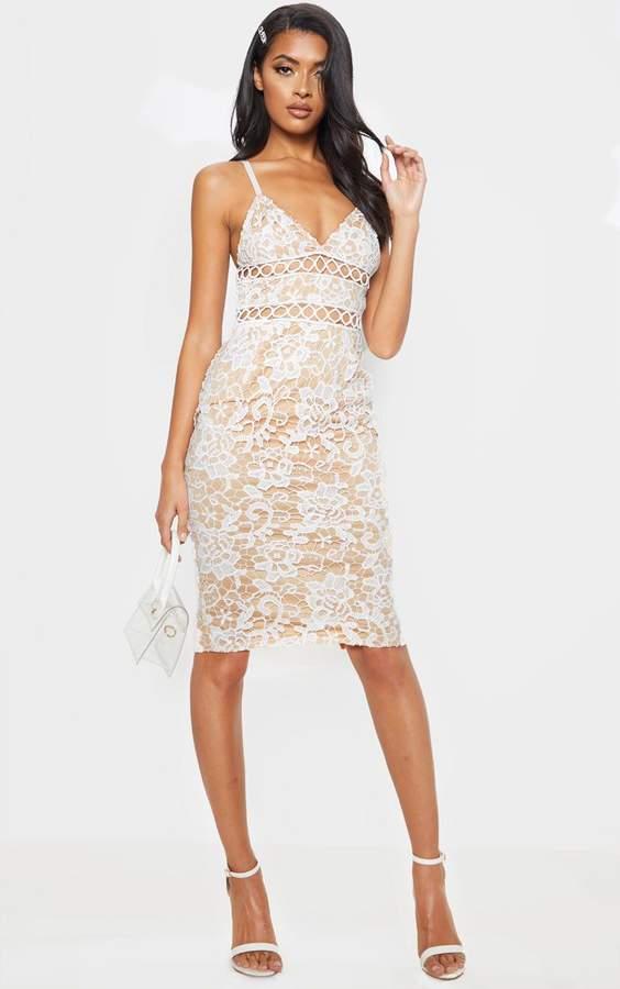 04e79198 White Lace Dress Strappy - ShopStyle UK