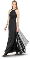 Max Studio Silk Mesh Hand Covered Bead Chiffon Gown