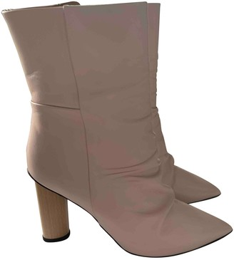 IRO Spring Summer 2019 Pink Leather Ankle boots