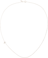 Sydney Evan White Gold Initial Side Oriented Necklace with Diamonds