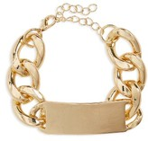 BP Women's Curb Chain Id Bracelet