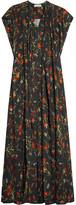 Balenciaga Floral-print Crepe Maxi Dress - Black
