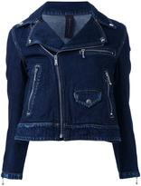 Miharayasuhiro denim biker jacket - women - Cotton - 40