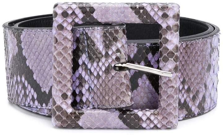 Orciani wide snakeskin belt