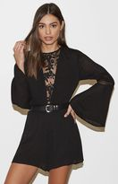 KENDALL + KYLIE Kendall & Kylie Lace Inset Long Sleeve Romper