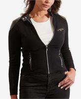 Lauren Ralph Lauren Plus Size Stretch Moto Jacket