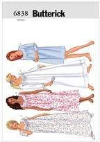 Lrg Butterick Patterns B6838 Misses'/Misses' Petite Nightgown