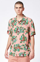 Obey Paradise Short Sleeve Button Up Camp Shirt