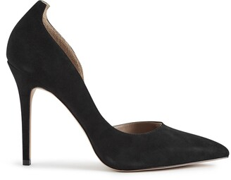 Reiss Alberta - Suede Court Shoes in Black