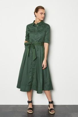 Karen Millen Cotton Utility Shirt Dress