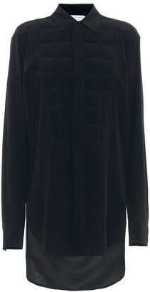 Bottega Veneta Quilted silk crepe shirt