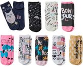 Pink Cookie Girls 9-pk. Glitter Print Low-Cut Socks