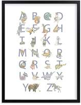 Pottery Barn Kids The Animalphabet Wall Art by Minted® 11x14, White