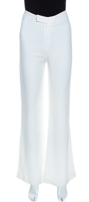 Gucci Off White Crepe Flared Pants S
