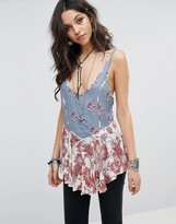 Free People Mix Printed Woven Cami