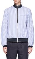 Oamc Owl patch stripe poplin bomber jacket