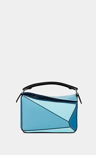 Loewe Women's Puzzle Small Leather Shoulder Bag - Aqua