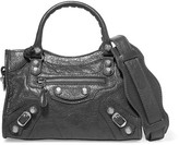 Balenciaga Giant 12 City Aj Mini Textured-leather Shoulder Bag - Gray