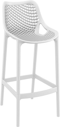 Siesta Air Outdoor Outdoor Bar Stool High Chair White Set of 2