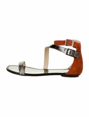 Jimmy Choo Nida Patent Leather Sandals Grey
