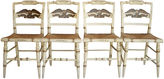 One Kings Lane Vintage Hitchcock Eagle-Back Chairs, S/4