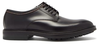 Paul Smith Rutford Signature Stripe Piped Leather Derby Shoes - Black