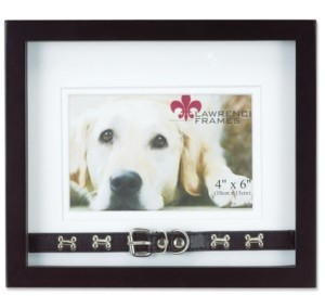"""Lawrence Frames Wood Double Mat Picture Frame - Dog Collar Design, 6"""" x 4"""""""