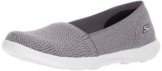 Skechers Women's 15412 Slip On Trainers, (Black/Grey), 36 EU