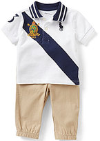 Ralph Lauren Baby Boys 3-24 Months Polo Shirt & Solid Jogger Pants