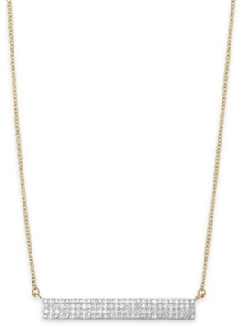 Wrapped Diamond Horizontal Bar Cluster Necklace (1/4 ct. t.w.) in 10k White Gold or 10k Gold, Created for Macy's