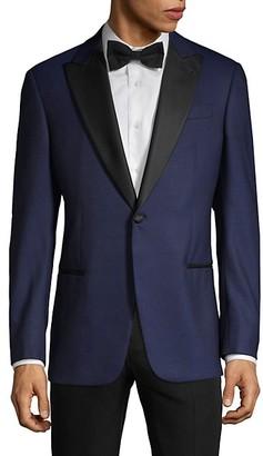 Armani Collezioni Textured Tuxedo Jacket