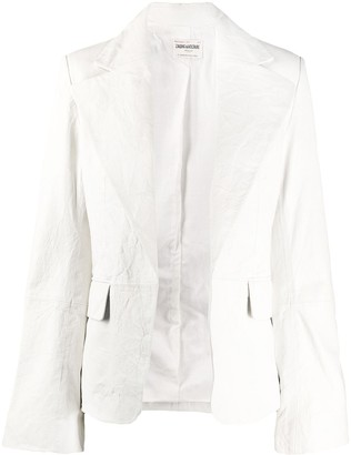 Zadig & Voltaire Fashion Show Vichy crinkled-effect jacket