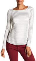 Susina Striped Boatneck Long Sleeve Tee