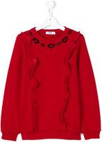MSGM ruffled sweatshirt - kids - Cotton - 14 yrs
