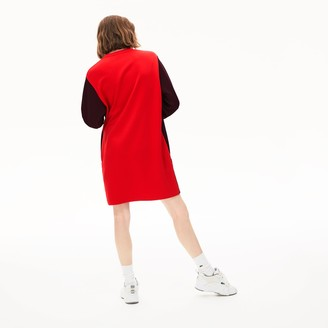 Lacoste Women's Colorblock Fleece Sweatshirt Dress